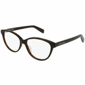 Saint Laurent Cat Eye Eyeglasses Havana Demo Lens